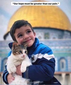 パレスチナの子どもとねこ
